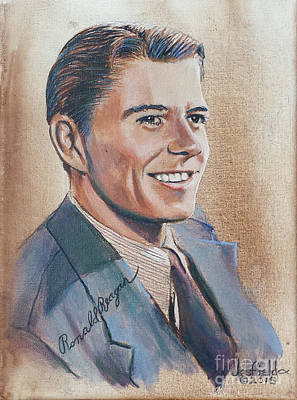 Painting - Young Ronald Reagan by LeRoy Jesfield