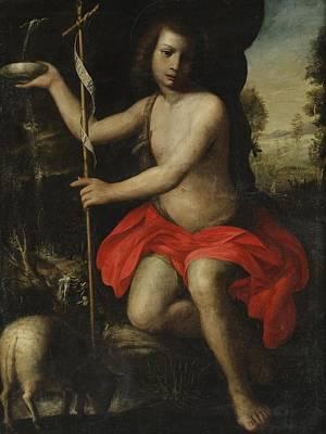 Young Saint John The Baptist Art Print by Alessandro Allori