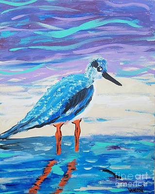 Painting - Young Seagull Coastal Abstract by Scott D Van Osdol