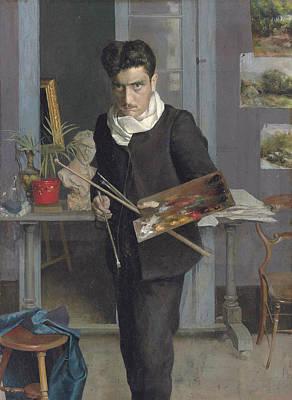 Painting - Young Self-portrait by Julio Romero de Torres