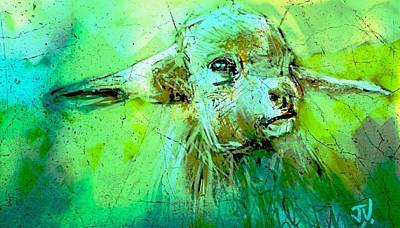 Painting - Young Sheep by Jim Vance
