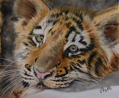 Pastel - Young Siberian Tiger Cub by Vicky Path