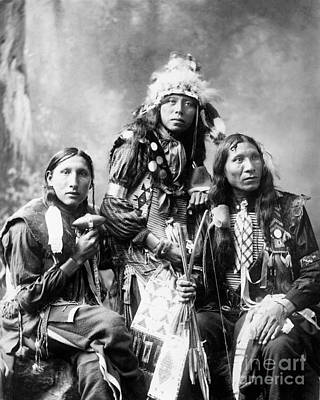 Long Necklace Photograph - Young Sioux Men, 1899 by Granger