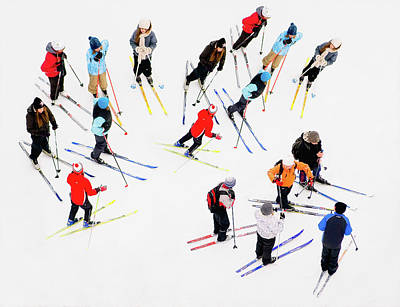 Photograph - Young Skiers by Ari Salmela
