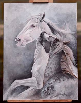 Painting - Young Stallions by Dorota Kudyba