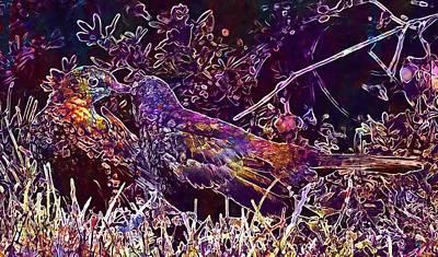 Digital Art - Young Star Star Bird  by PixBreak Art