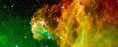 Young Stars Emerge From Orion's Head Print by Space Art Pictures