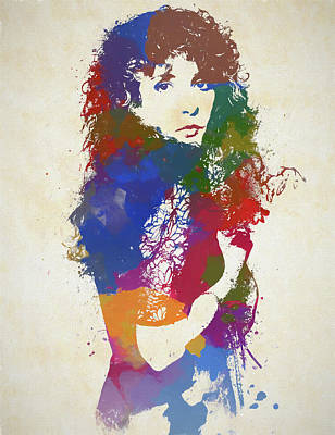 Painting - Young Stevie Nicks by Dan Sproul