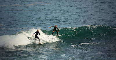 Photograph - Young Surfers Two by Joyce Dickens
