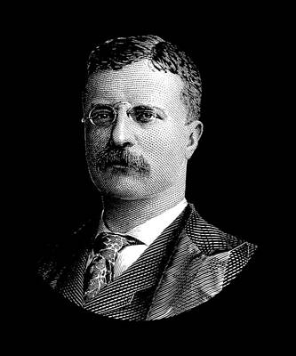 Digital Art - Young Theodore Roosevelt Graphic by War Is Hell Store