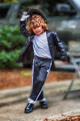 Michael Jackson Digital Art - Young White Michael Jackson Busker by John Haldane