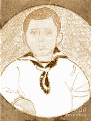 Young Winston Churchill 2 Art Print by Richard W Linford