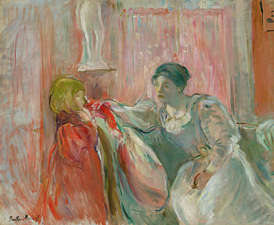 Painting - Young Woman And Child by Berthe Morisot