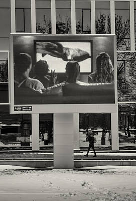 Photograph - Young Woman And Outdoor Television Display by John Williams