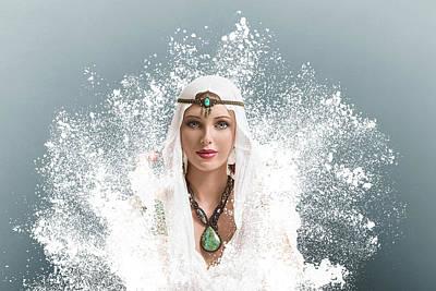 Hijab Fashion Photograph - Young Woman Arabic Style Fashion Look by IPolyPhoto Art