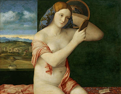 Painting - Young Woman At Her Toilette by Giovanni Bellini