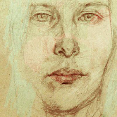 Digital Art - Young Woman by Attila Meszlenyi