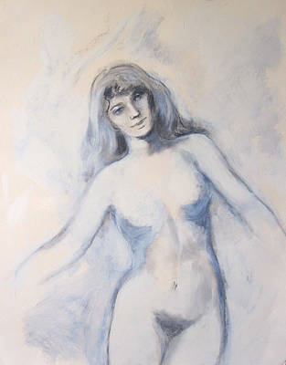 Nud Painting - Young Woman Dancing by Jeannette Ulrich