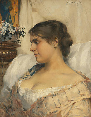 Painting - Young Woman In Her Boudoir by Albert Edelfelt