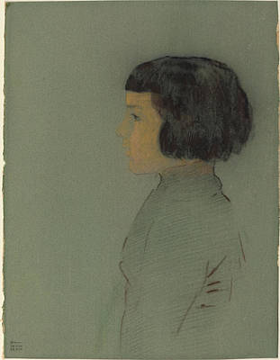 Painting - Young Woman In Profile by Odilon Redon