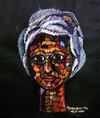 Ethiopian Woman Painting - Young Woman by Martha Nesibu