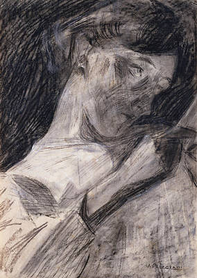 Boccioni Drawing - Young Woman Reading  by Umberto Boccioni