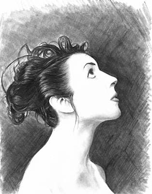 Catherine White Drawing - Young Woman by Ryan Jones