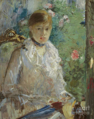 Painting - Young Woman Sitting In Front Of A Window, Called Summer, 1879 by Berthe Morisot