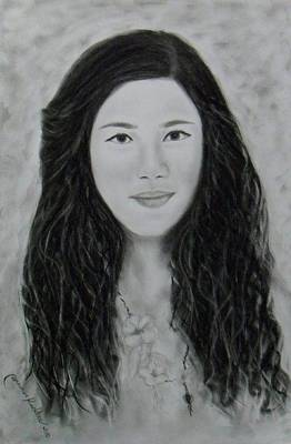 Drawing - Young Woman by Wanvisa Klawklean