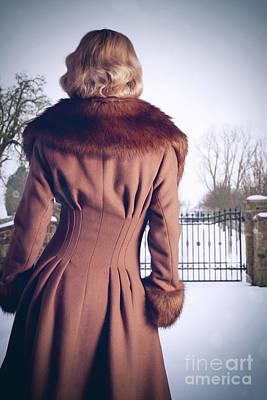 Young Woman Wearing Coat Art Print
