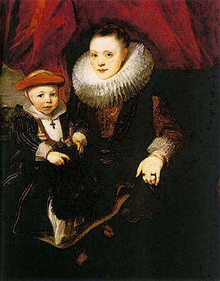 Digital Art - Young Woman With A Child  by Sir Antony van Dyck