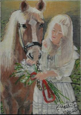 Painting - Young Woman With Horse by Francine Heykoop