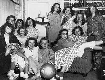 Bonding Photograph - Young Women College Students by Underwood Archives