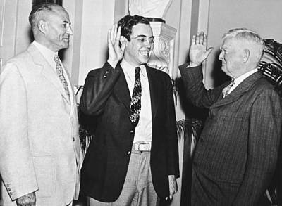 Man Of The House Photograph - Youngest Salon Takes Oath by Underwood Archives