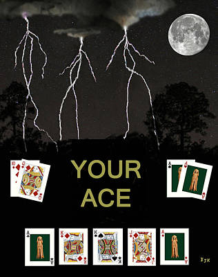 Mixed Media - Your Ace Poker Cards by Eric Kempson