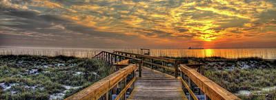 Best Ocean Photograph - Your Adventures Start Here Sunrise Tybee Island Georgia Art by Reid Callaway