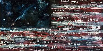 Baselitz Painting - Your America Part 1 Of 2 by Antonio Ortiz