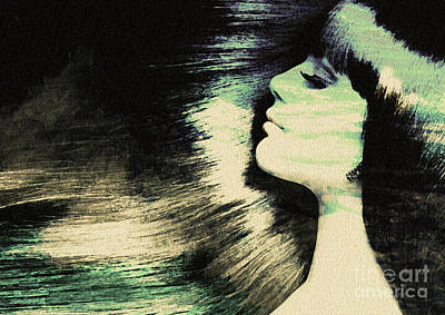 Painting - Your Hair Like The Ocean Waves by Manjot Singh Sachdeva