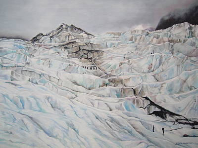 Ice Climbing Painting - Your Hand Will Guide Me by Sheila Vander Wier