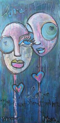 Painting - Your Haunted Heart And Me by Laurie Maves ART