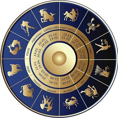 Mixed Media - Your Horoscope Icon by Sheila Mcdonald