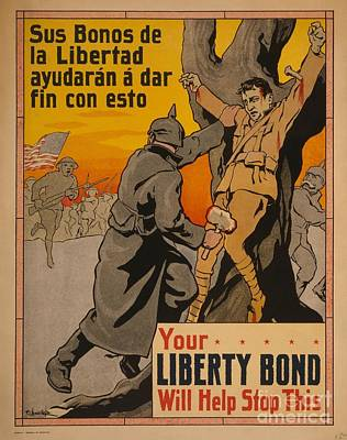 Painting - Your Liberty Bond Will Help Stop This Crisco Restoration 1916 Wwi by Celestial Images
