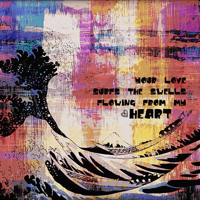 Surfboards Mixed Media - Your Love by Brandi Fitzgerald