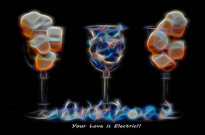 Mixed Media - Your Love Is Electric by Pamela Walton
