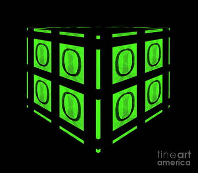 Digital Art - Your Matrix Cube by Tim Richards