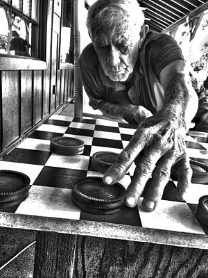 Photograph - Your Move Dad Bw Art by Lesa Fine