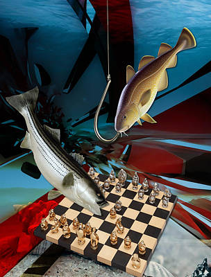 Mixed Media - Your Move, No It Looks Like It's Your Move by Marvin Blaine