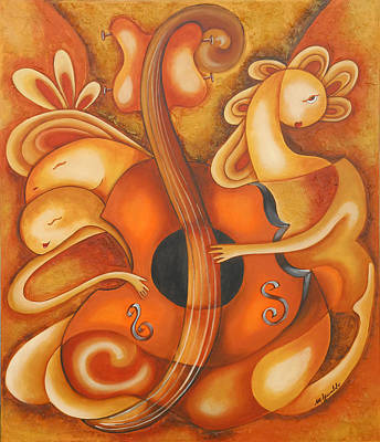 Your Music My Inspiration Art Print by Marta Giraldo