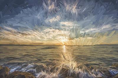 Shore Digital Art - Your My Sun II by Jon Glaser