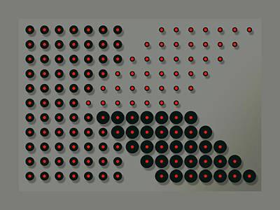 Digital Art - Your Name - K Monogram by Attila Meszlenyi